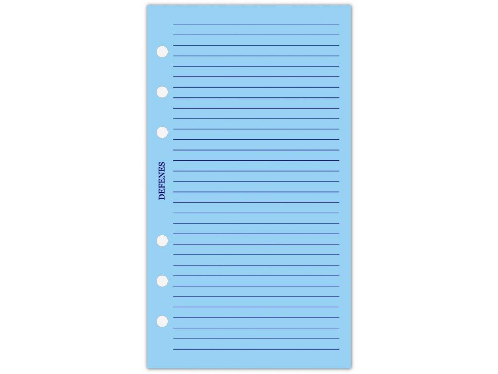 DEFENES Linkovaný papír A6, modrý, 21 listů