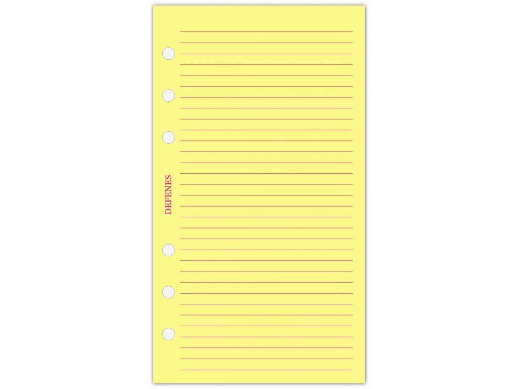 DEFENES Linkovaný papír A6, žlutý, 21 listů