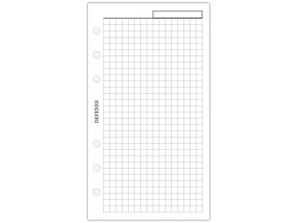 DEFENES Hlavičkový čtverečkovaný papír A6, bílý, 40 listů