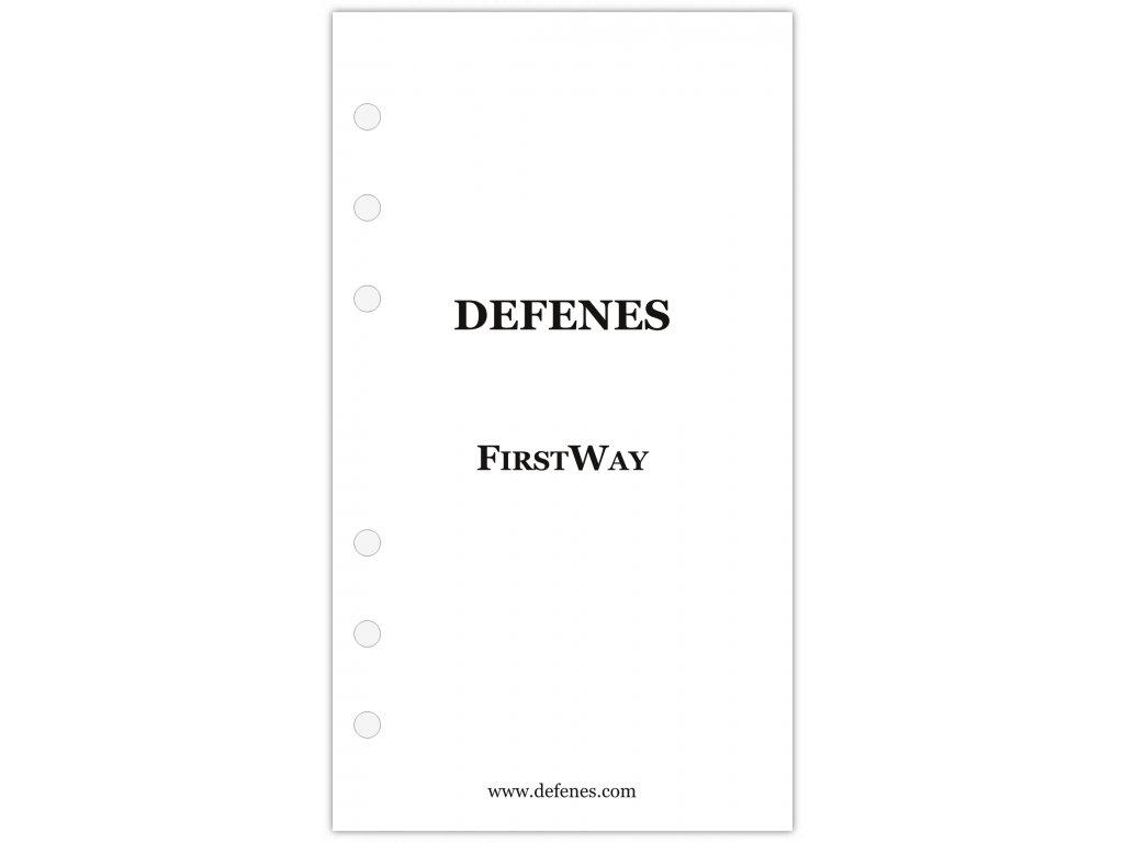 DEFENES První strana FirstWay, křídový papír