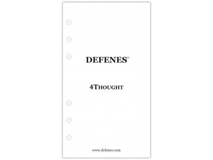 DEFENES První strana 4Thought, křídový papír