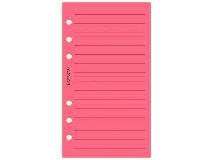 DEFENES Linkovaný papír A6, neonově růžový, 40 listů