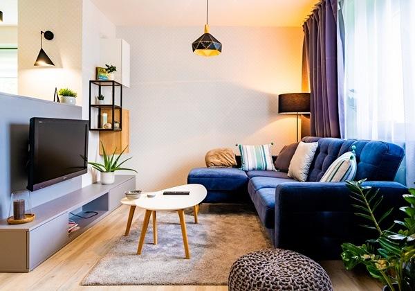 Obývací kout v malém bytě a jeho rekonstrukce