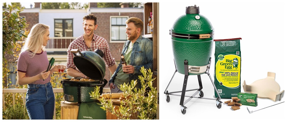 koláž easy start big green egg