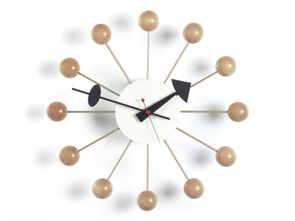 Hodiny Ball Clock, beech