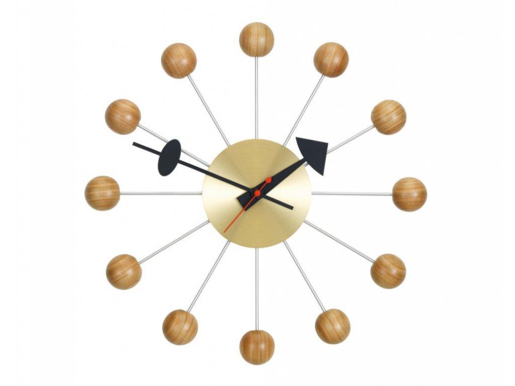 Hodiny Ball Clock, cherry