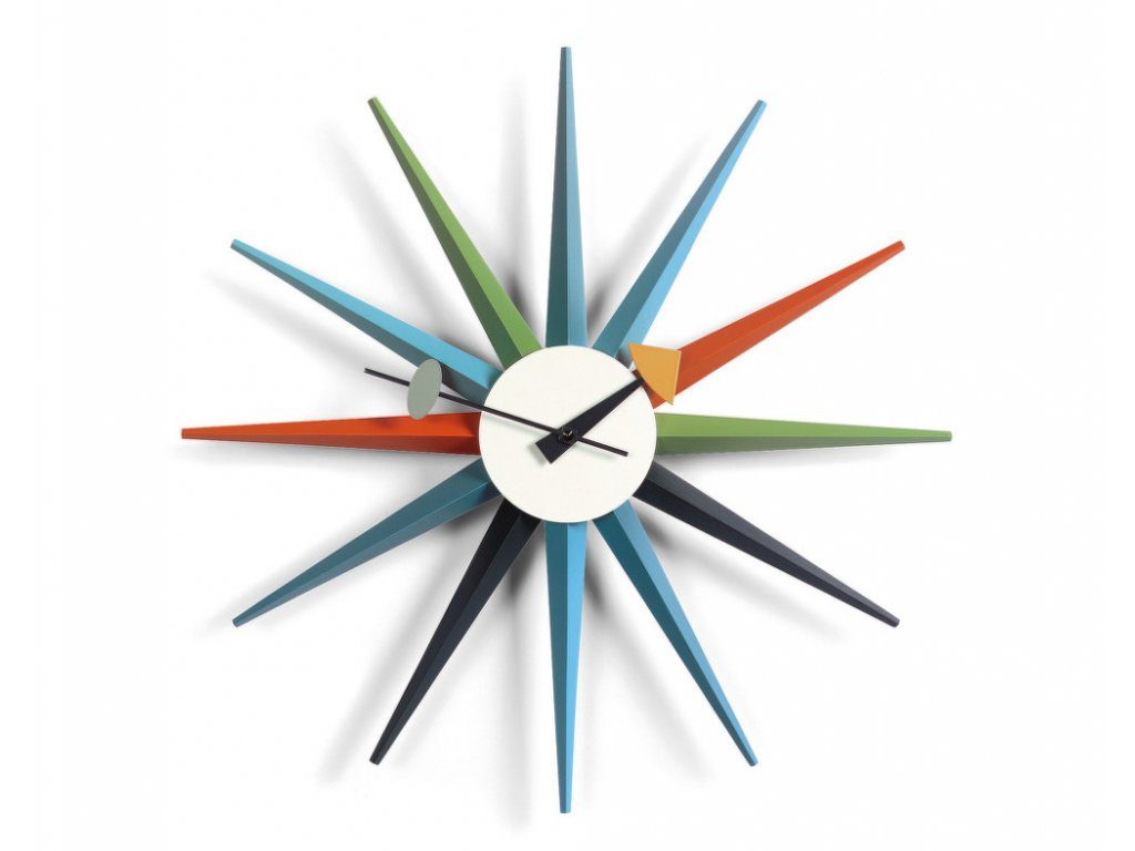Hodiny Sunburst Clock, multicolor
