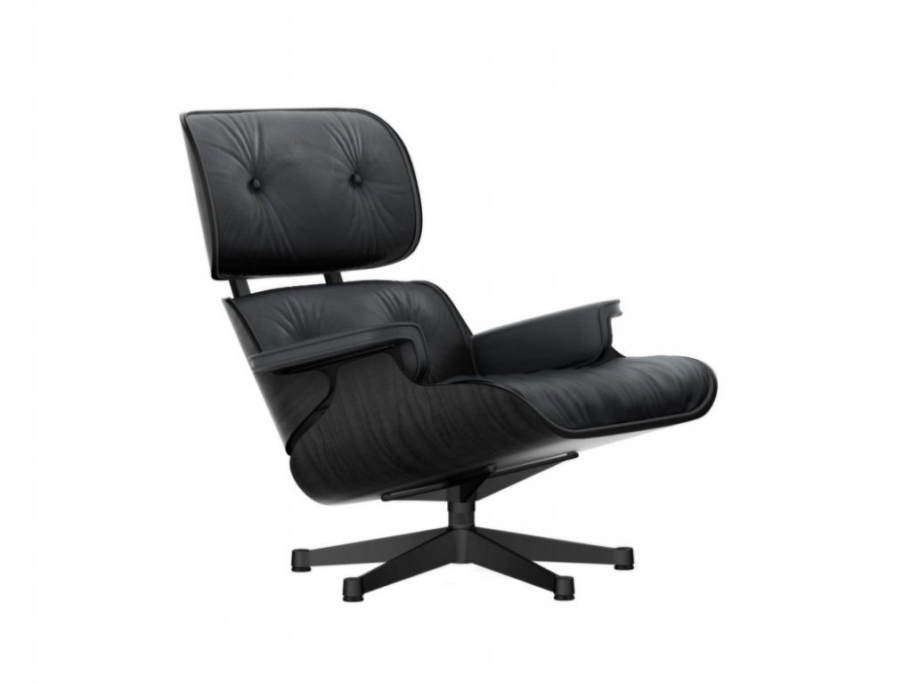 Křeslo Eames Lounge Chair, black ash