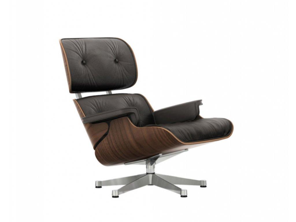 Křeslo Eames Lounge Chair, black pigmented walnut