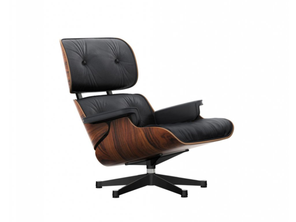 Křeslo Eames Lounge Chair, santos palisander