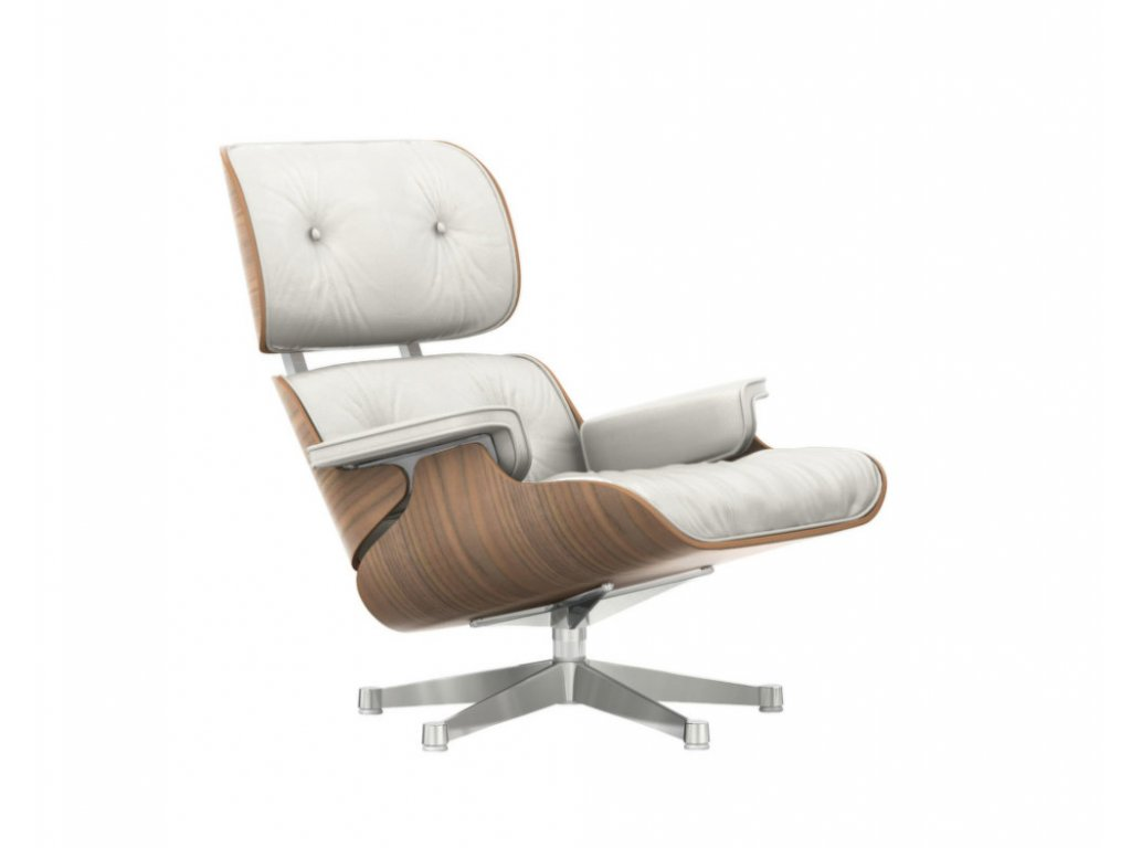 Křeslo Eames Lounge Chair, white pigmented walnut