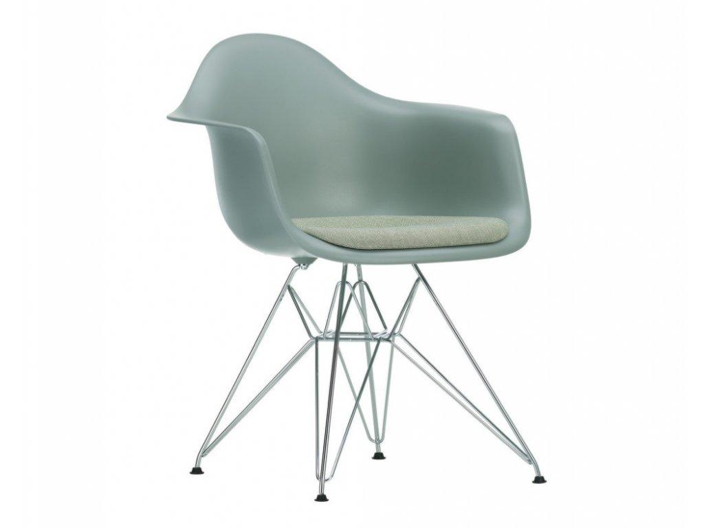 Židle Eames DAR, polstrovaný sedák