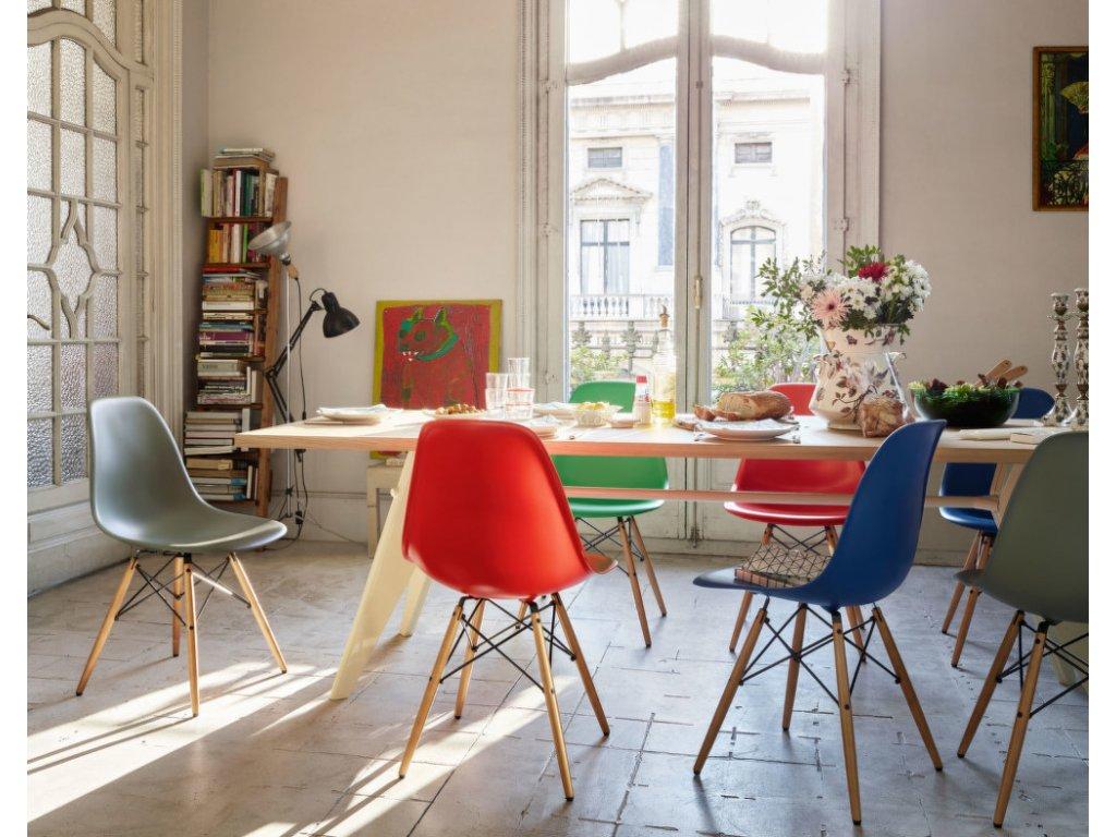 Židle Eames DSW, mauve grey