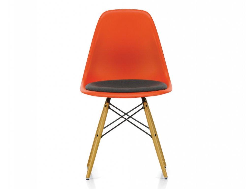 Židle Eames DSW, polstrovaný sedák