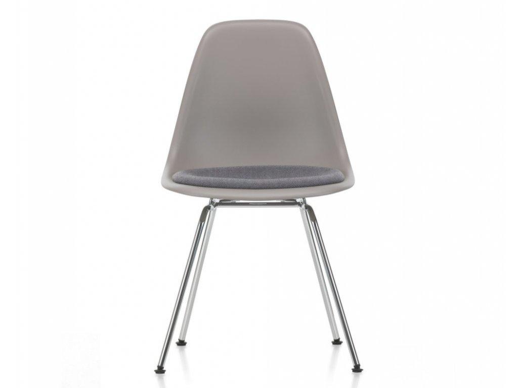 Židle Eames DSX, polstrovaný sedák