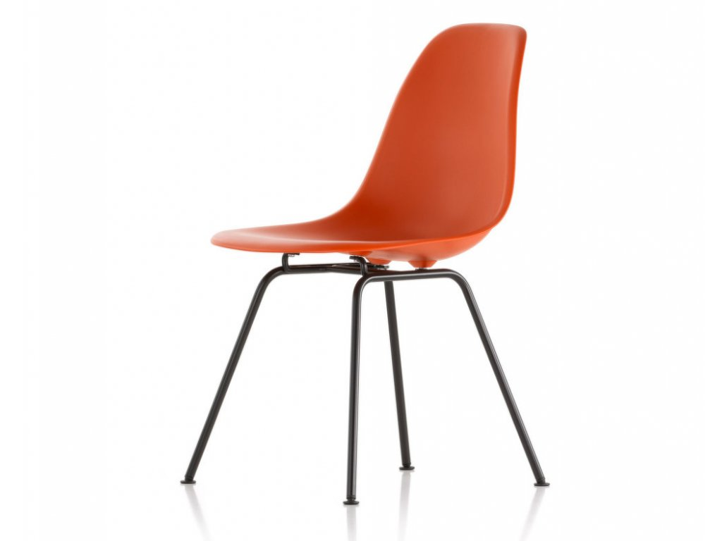 Židle Eames DSX, poppy red