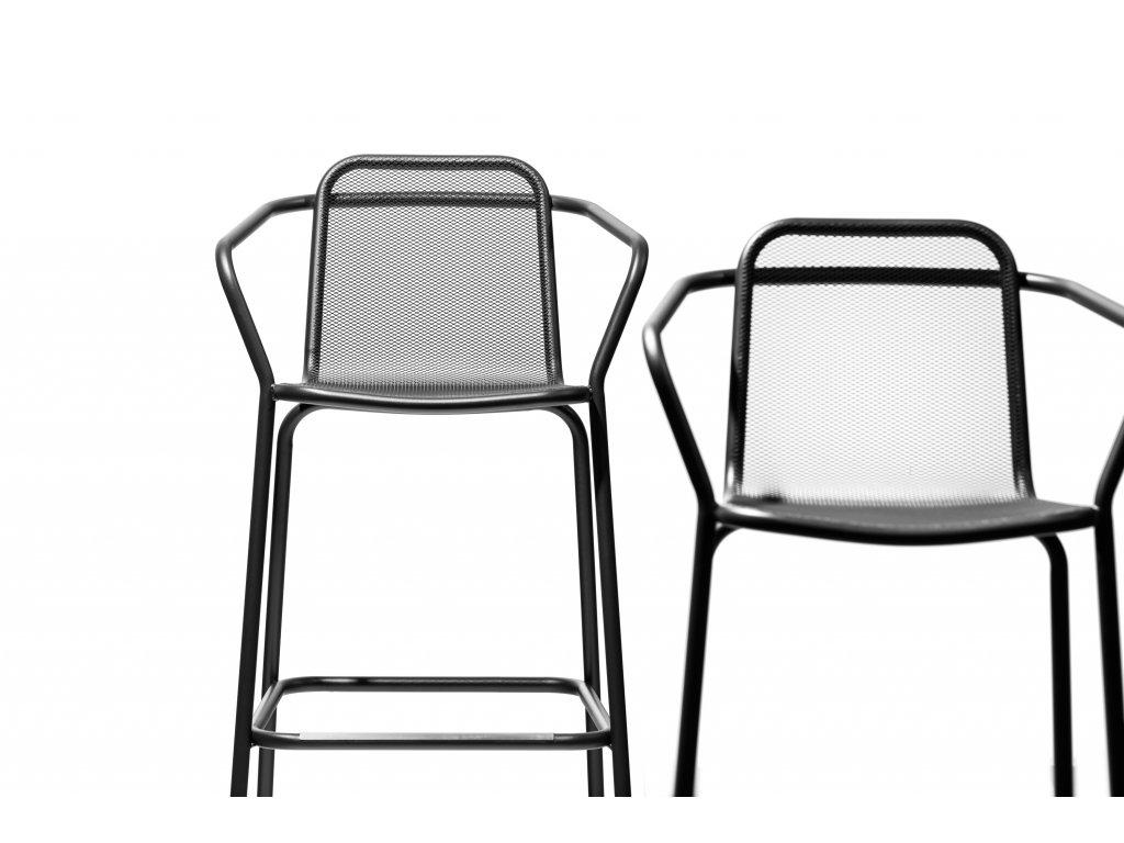 Zahradní barová židle Starling s područkami