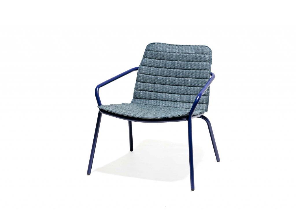 Polstr na zahradní nízkou židli nebo křeslo
