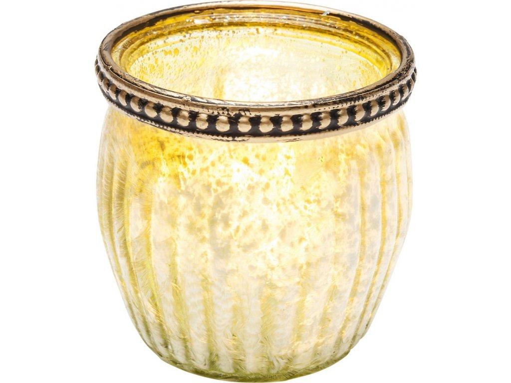 Svícen na čajovou svíčku Medina 7 cm - zelený