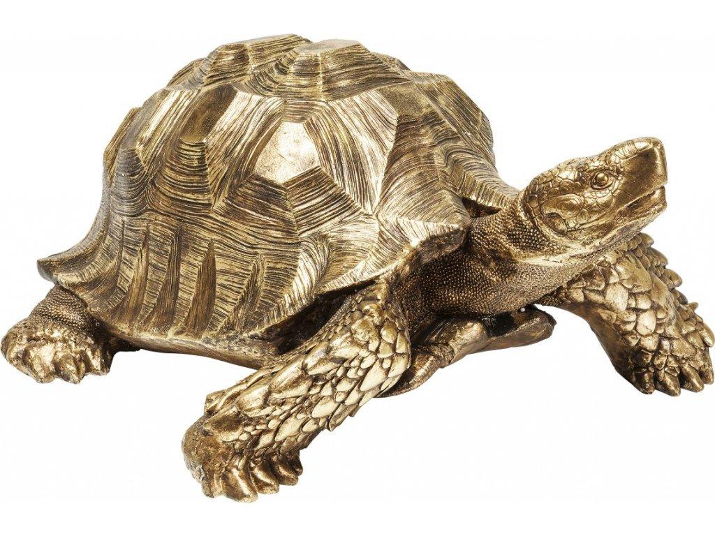 Dekorativní figurka Želva XL, zlatá