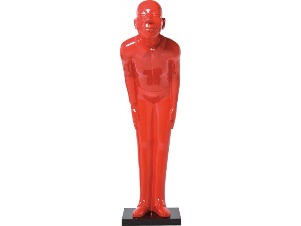Dekorativní figurka Welcome Guests, červená