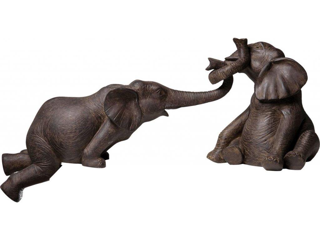 Dekorativní figurka Slon v cirkuse, set 2 kusů