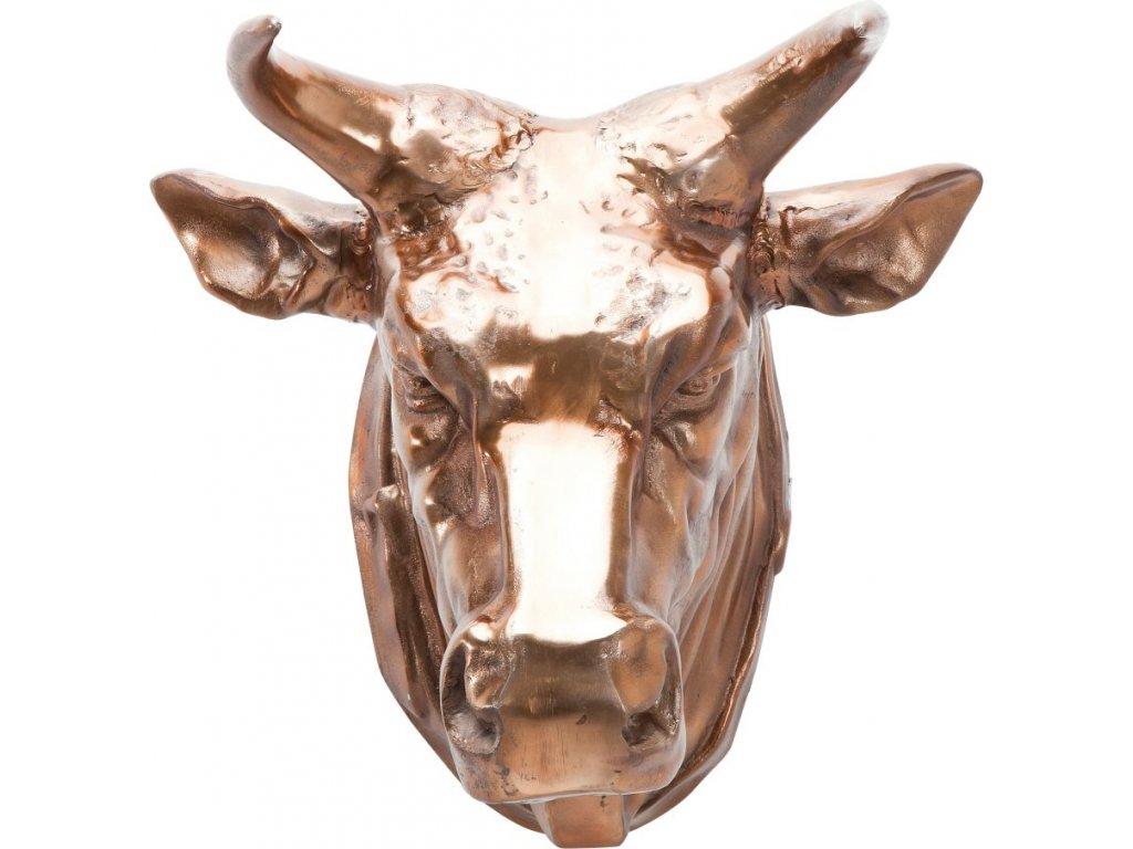 Dekorativní busta Buffalo měď