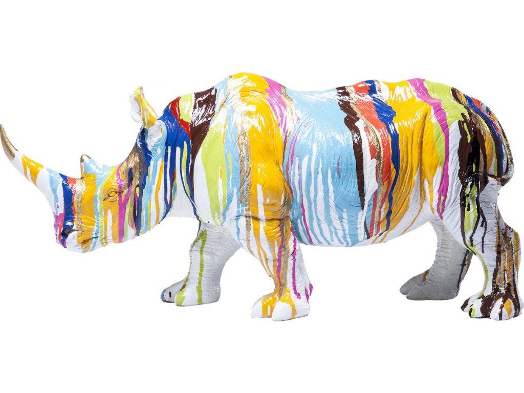 Dekorativní figurka Nosorožec 26 cm, barevný