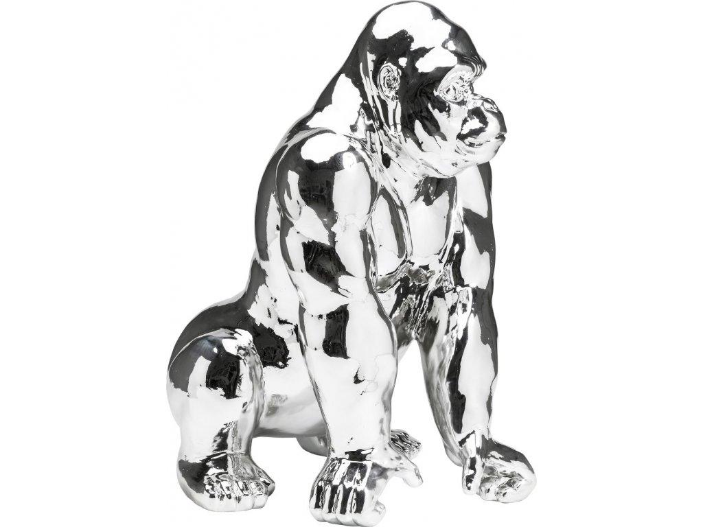 Dekorativní figurka Gorila, chromová
