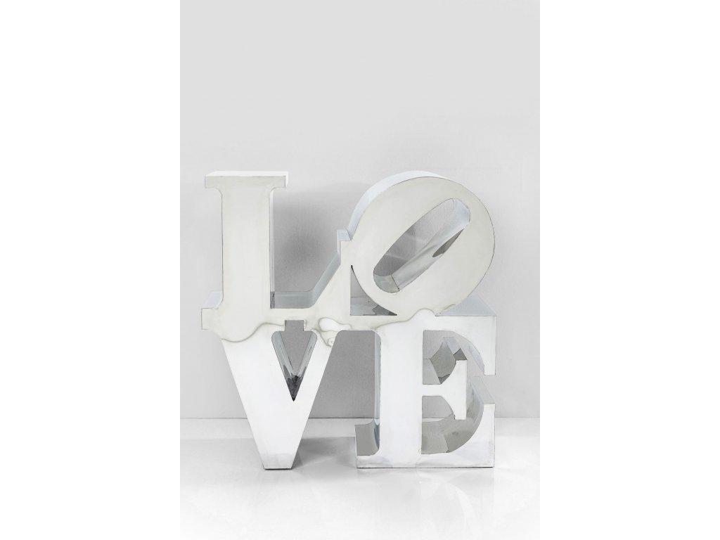 Dekorativní předmět LOVE, nerezová ocel