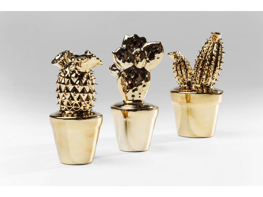 Dekorativní kaktus Gold Glossy Small - více variant