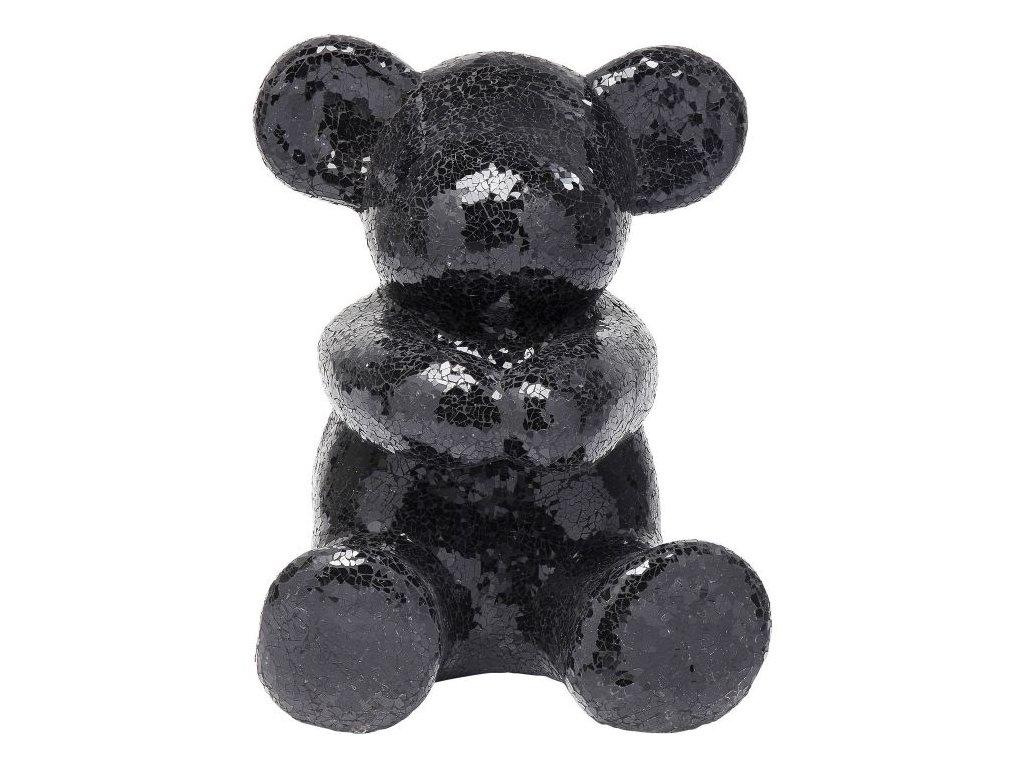 Dekorativní předmět Teddy Bear Hug, černý