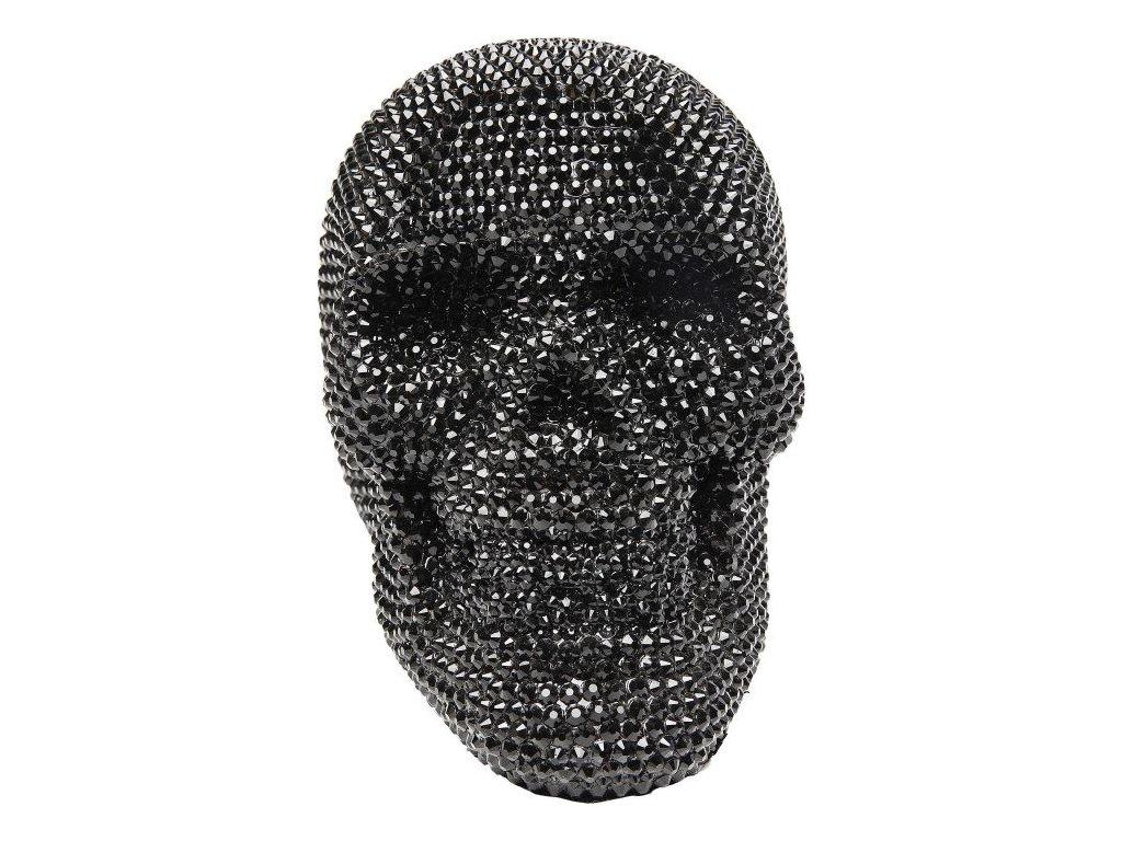 Dekorativní předmět Crystal Skull, černý