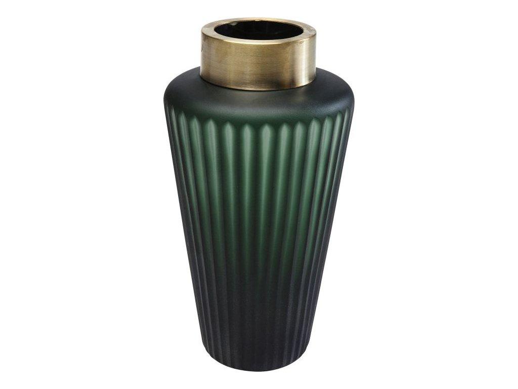Váza Romeo 24 cm, zelená