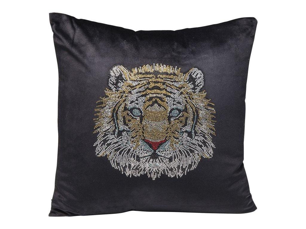 Dekorativní polštář Tiger Face 45×45 cm