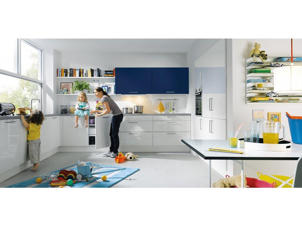 Světlá kuchyně Uni gloss
