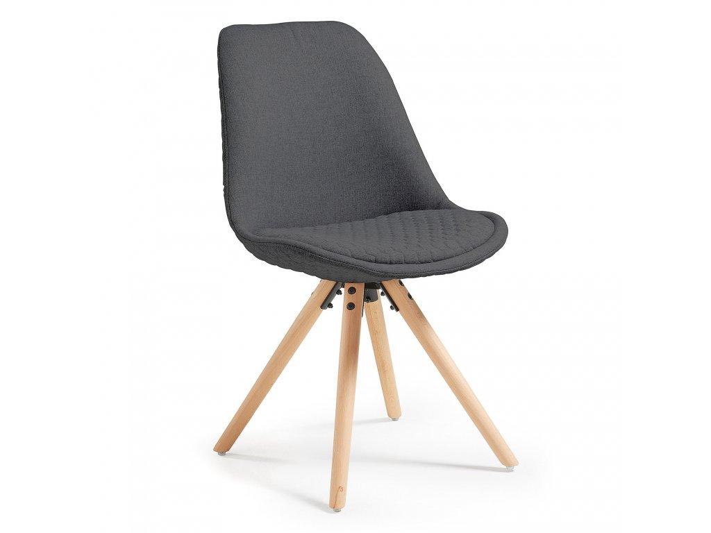 Čalouněná židle Lars - šedá