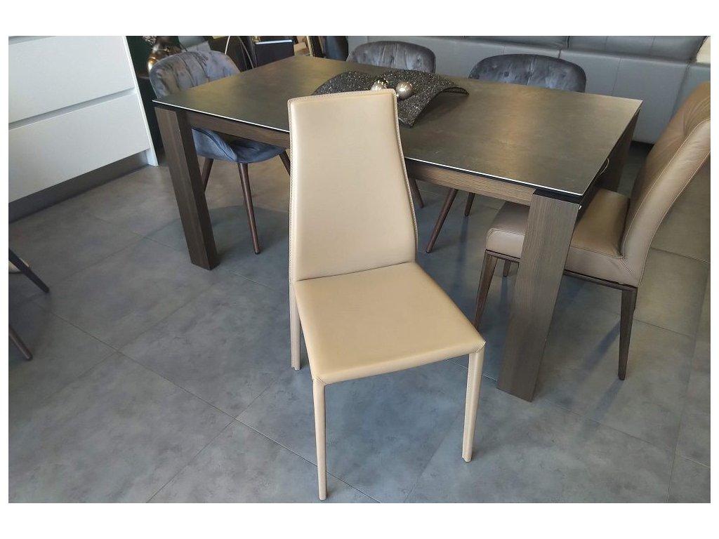 Židle Aida Plus, kůže, natural