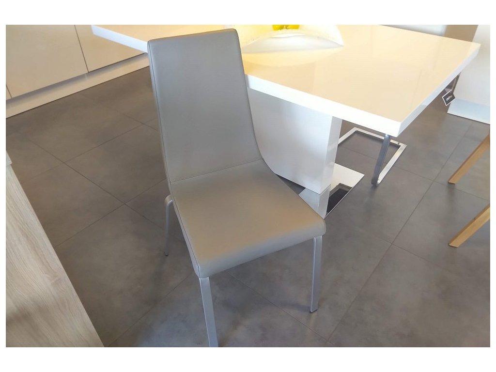 Židle Cruiser - kůže, podnož saténová ocel