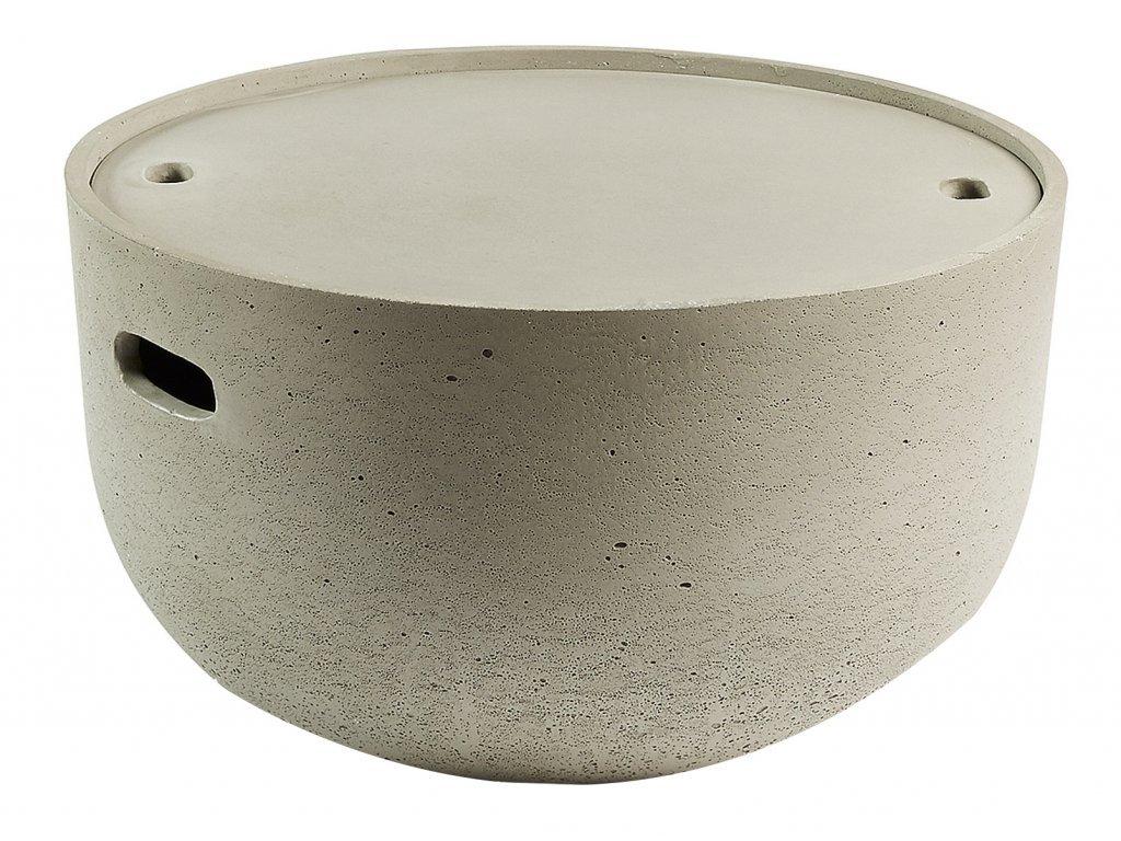144417 sedy cementovy odkladaci stolek laforma rhette 58 cm s uloznym prostorem