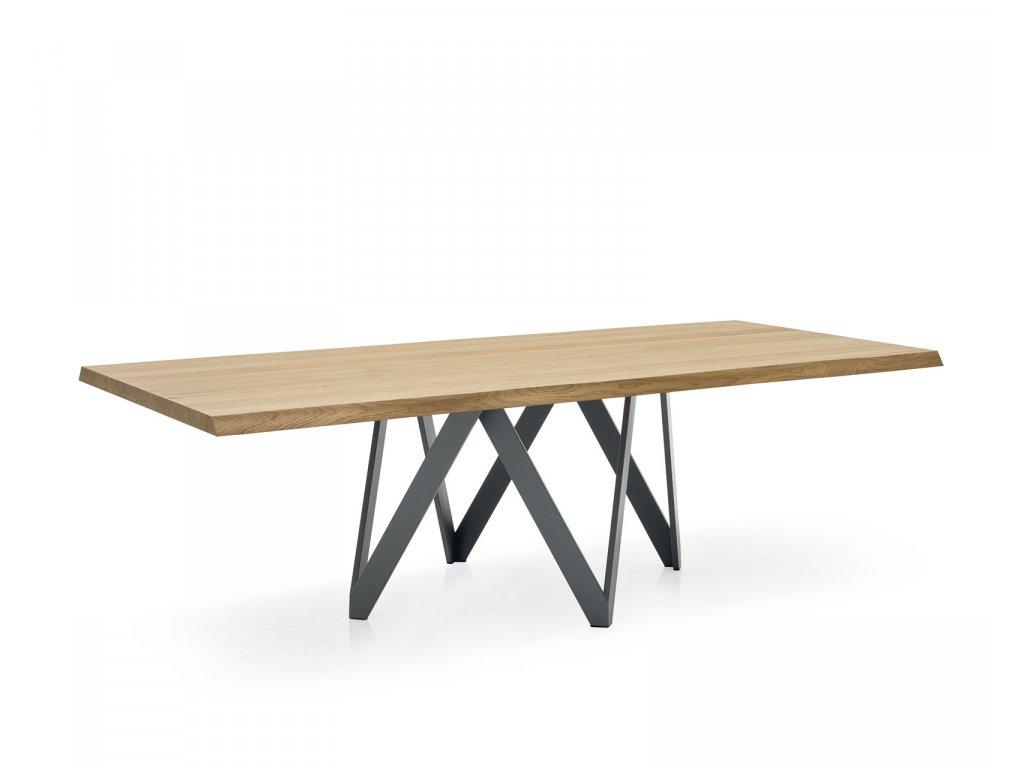 Stůl Cartesio s dřevěným dekorem