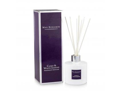 Interiérový parfém Cassis & White Jasmine, 150 ml - difuzér