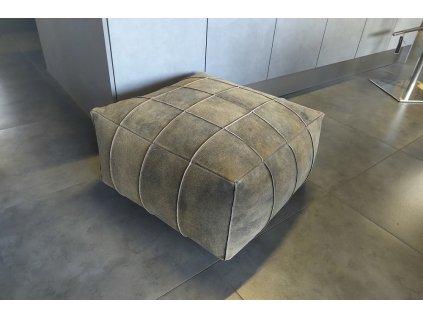 Kožený taburet Squere