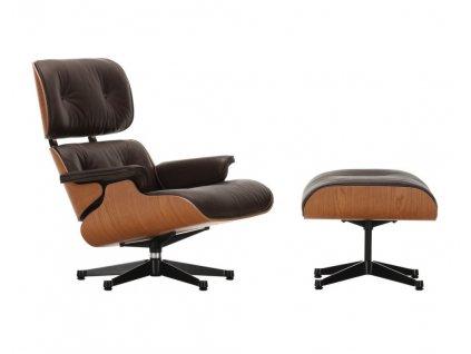 Eames Lounge Chair & Ottoman, american cherry