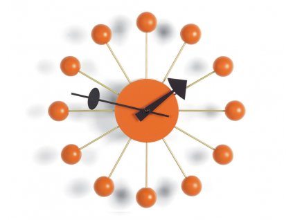 Hodiny Ball Clock, orange
