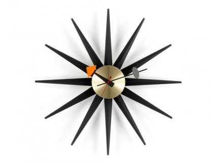 Hodiny Sunburst Clock, black