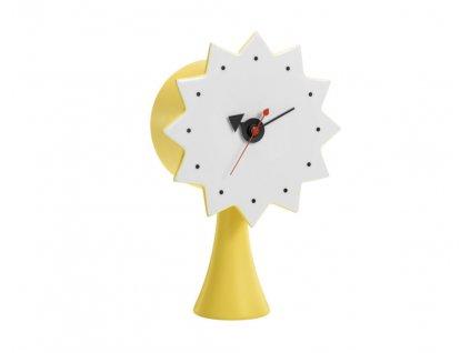Stolní hodiny Ceramic Clock, yellow
