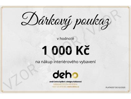 Dárkový poukaz DEHO