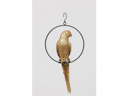 Dekorativní předmět Swinging Parrot, zlatý