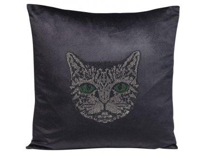 Dekorativní polštář Cat Face 45×45 cm